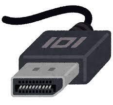 DisplayPort端子のイラスト | かわいいフリー素材集 いらすとや